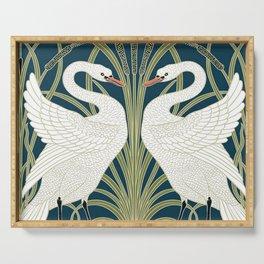 Swan Rush and Iris by Walter Crane Serving Tray