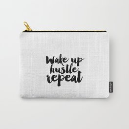 PRINTABLE Art, Wake Up Hustle Repeat, BEDROOM Decor,BEDROOM Sign,Hustle Hard,Girls Room Decor,Quote Carry-All Pouch