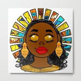 Golden Goddess Metal Print