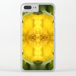 Freedom Flower Clear iPhone Case