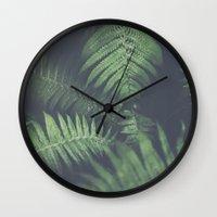 fern Wall Clocks featuring fern by elle moss