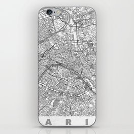 Paris Map Line iPhone Skin