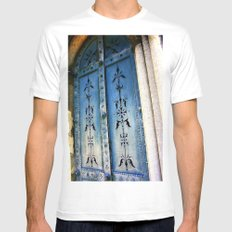 Knock, Knock Mens Fitted Tee MEDIUM White