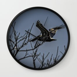 Pelican Breezing Thru The Trees Wall Clock