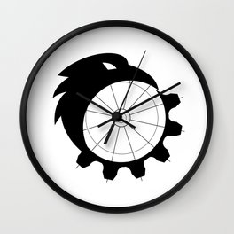 Raven Merging to Cog Icon Wall Clock