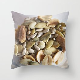 Salad mix of seeds Throw Pillow