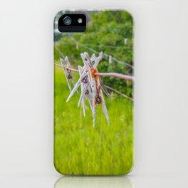 Clothespins on the Line, North Dakota 3 iPhone Case