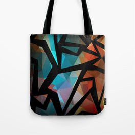 Abstract background of triangles polygon print. Tote Bag