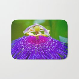 Macro Photography of Exotic Violet Flower Bath Mat