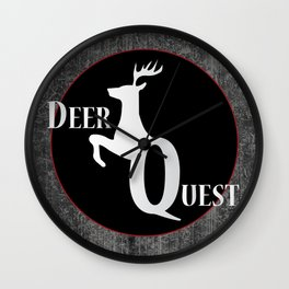 Deer Quest - Logo Wall Clock
