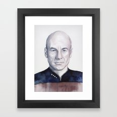 Captain Picard Framed Art Print