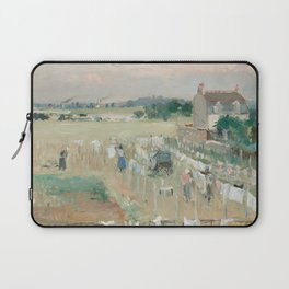 Hanging the Laundry out to Dry by Berthe Morisot Laptop Sleeve