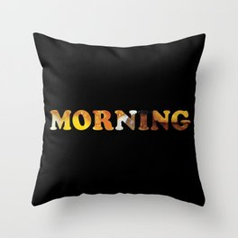 Breakfast Of Champions Throw Pillow