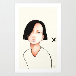 Haircut Art Print