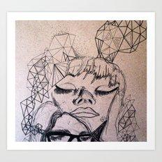 Experimental Faces Art Print