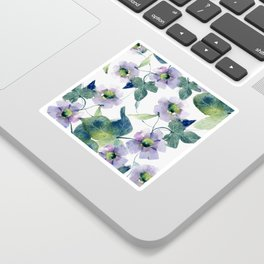 Purple Flowers 2 Sticker