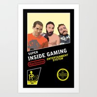 inside gaming Art Prints featuring 8 Bit Inside Gaming by Jin Smoth