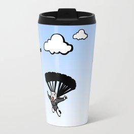 Skydiving Ferret Travel Mug