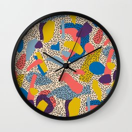 Memphis Inspired Pattern 2 Wall Clock