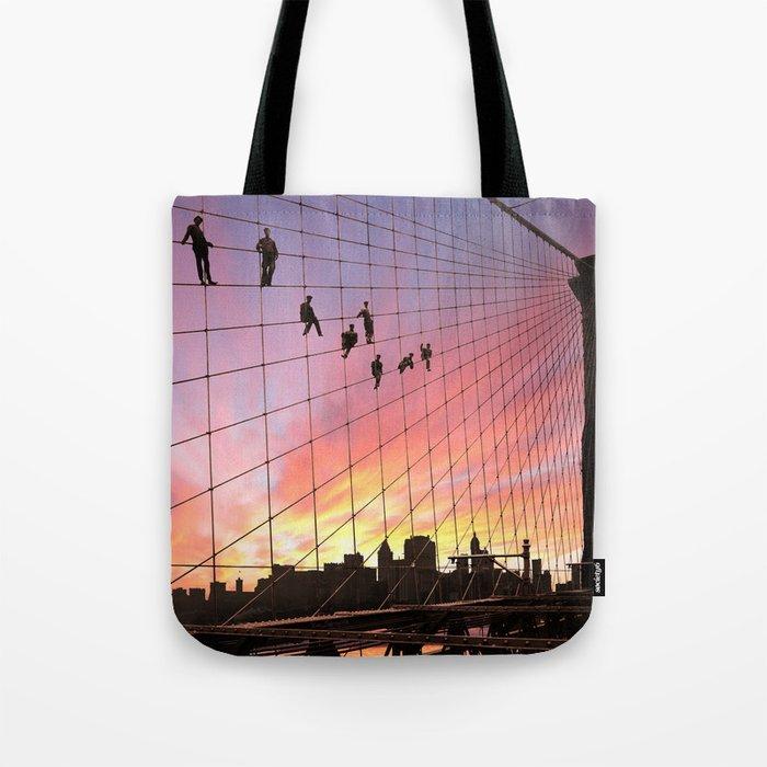 Brooklyn Bridge Painters Quitting Time Tote Bag