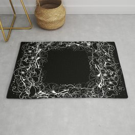 Abstract floral frame Rug