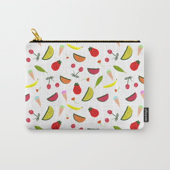Vegan Goodies Pattern Carry-All Pouch