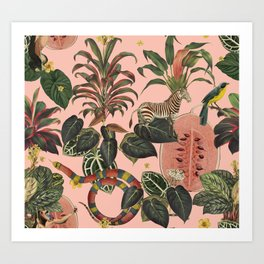 Pink Jungla Art Print