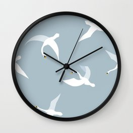 Flying Swans Larger Pattern Wall Clock
