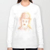 charlie chaplin Long Sleeve T-shirts featuring CHARLIE CHAPLIN by willeyworks