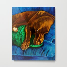 Sleepy Boy Metal Print