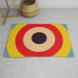 Cubagua - Classic Colorful Abstract Minimal Retro 70s Style Graphic Design Rug