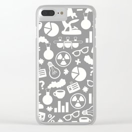 Grey Scientist Clear iPhone Case