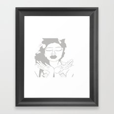 The Kiss - Woman in Gray  Framed Art Print