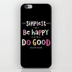 Do Good iPhone & iPod Skin