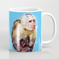 monkey island Mugs featuring Monkey by beart24