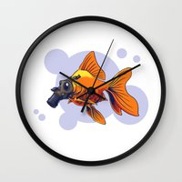 breathe Wall Clocks featuring Breathe by rob art | simple