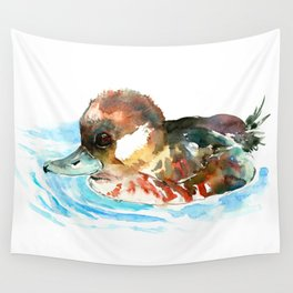 Duck, Bufflehead Duck baby Wild Duck Wall Tapestry