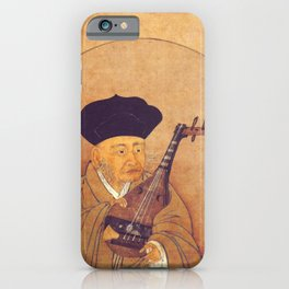 Sesshu Toyo - Self Portrait with a Biwa iPhone Case
