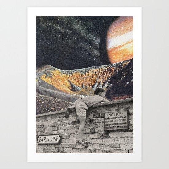 Entrar en el sueño Art Print