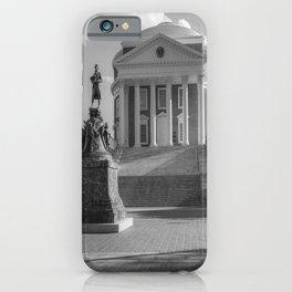 Charlottesville Virginia Campus Black White Print iPhone Case