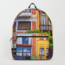 Colorful buildings Seville, Spain Backpack