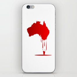 Australia Melting Down iPhone Skin