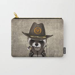 Baby Raccoon Zombie Hunter Carry-All Pouch