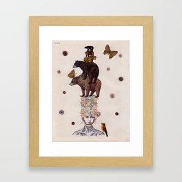 Bear Skin Framed Art Print