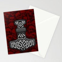 Thors Hammer Mjölnir Viking Design Stationery Cards