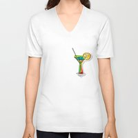 cocktail V-neck T-shirts featuring Cocktail by Rceeh