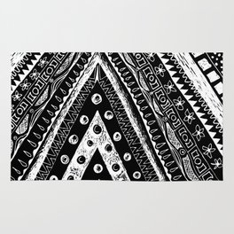 tribal triangle Rug