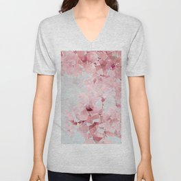 Meshed Up Sakura Blossoms Unisex V-Neck