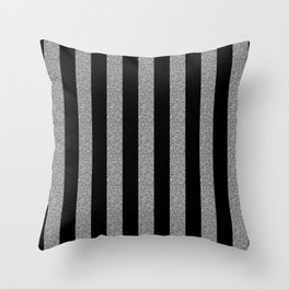 GLITTER STRIPES Throw Pillow