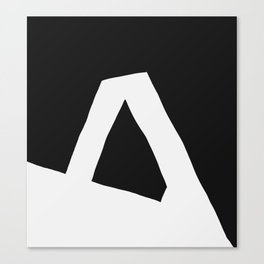 """A"" Statement Canvas Print"